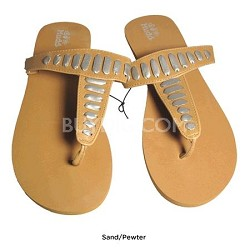 FOM277 Sandals Sand/Pewter Size Small (5/6)