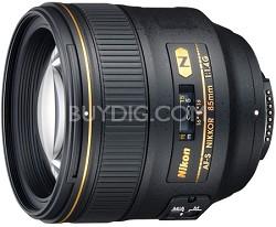 2195 - 85mm f/1.4G AF-S NIKKOR Lens for Nikon Digital SLR - OPEN BOX