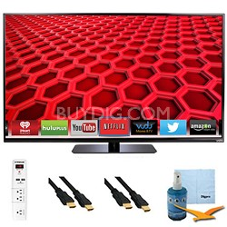 "50"" LED Smart HDTV 1080p Full HD 120Hz Plus Hook-Up Bundle - E500i-B"