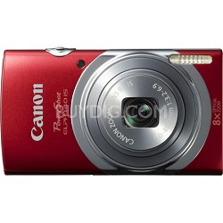 PowerShot ELPH 140 IS 16MP 8x Opt Zoom Digital Camera - Red