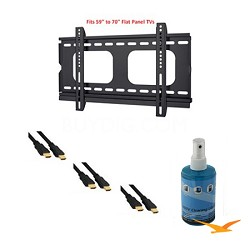 HDTV Essentials Package for TVs 46-70 inches (HDMI Cables, Slim Mount and More)