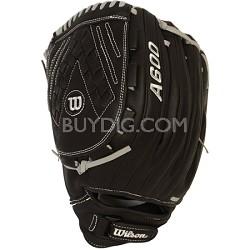 A600 Fastpitch Glove Left Hand Throw 12.5-Inch - Black