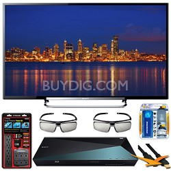 KDL-60R550A 60-Inch 120Hz 3D Wifi 1080p LED HDTV with 3D Blu-ray Bundle