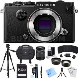 PEN-F 20MP Mirrorless Micro Four Thirds Digital Camera w/ 14-150mm Lens Bundle
