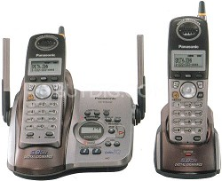 KX-TG5432M 5.8 GHz FHSS GigaRange Dual-Handset Phone System with Answering Syste