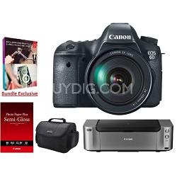 EOS 6D DSLR Camera w/ 24-105mm Lens Kit +  Printer / Paper / Adobe PEPE12