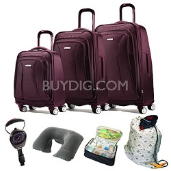 7 Pc. Hyperspace XLT Luggage Set in Passion Purple
