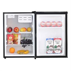 2.4 Cu. Ft. Single Door Compact Refrigerator in Stainless Steel - WHS-87LSS1