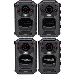 4-Pack Professional Grade Bodycam Wearable Body Video Camera w/ GPS (PMD-901V)