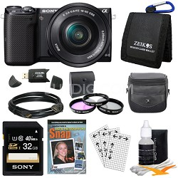 NEX-5TL Compact Interchangeable Lens Camera with 16-50mm Power Zoom Lens Bundle