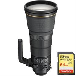 AF-S NIKKOR 400mm f/2.8E FL ED VR Lens - 2217 w/ Lexar 64GB Memory Card