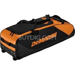 D-Team Wheeled Bat Bag, Orange