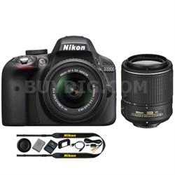 Refurbished D3300 24.2MP Digital SLR with 18-55mm and 55-200mm VR II Lenses