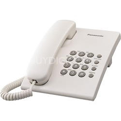 KX-TS500W Integrated Telephone with 6-Step Electronic Handset Volume Control, Wh