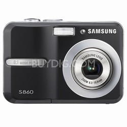 "S860 8MP 2.4"" LCD Digital Camera (Black)"