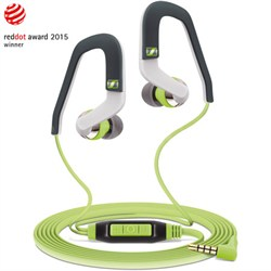 MX 686G Sports Earbud Headphones w/ Controls for Android Smartphones Green/Grey