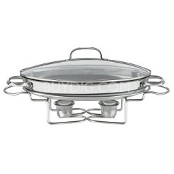 Stainless 13-1/2-Inch Oval Buffet Servers