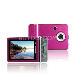 "2.4"" Color MP3 Video Player 4GB W/Built-in 5MP Digital Camera - Pink"