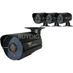 4PK of Hi-Resolution 600 TVL Security Cameras 36 Cobalt Blue LEDs
