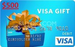 $500 Gift Card (Allow 4-6 weeks for delivery)