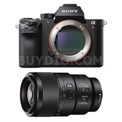 a7R II Mirrorless Interchangeable Lens Camera Body with 90mm Lens Bundle