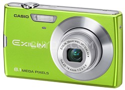 Exilim Z150 8.1 Megapixel Camera (Green)