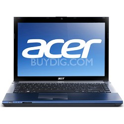 "Aspire TimelineX AS4830T-6443 14.0"" Blue Notebook PC - Intel Core i3-2350M Proc."
