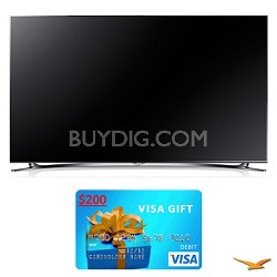"UN60F8000 60"" 1080p 240hz 3D Smart WiFi LED HDTV Bundle"