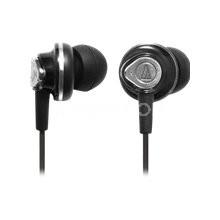 ATH-CKM50A Ergonomic In-ear Diaphragm Binaural Headphones w/ 3 Earpieces (Black)