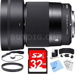 30mm F1.4 DC DN Lens for Sony E Mount Essential Accessory Bundle