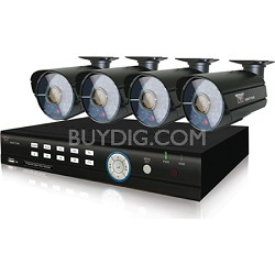 8 Channel Smart DVR with 1TB Hard Drive with 4 x 600 TVL Cameras