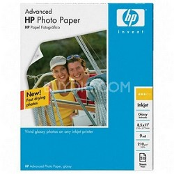 Advanced Glossy Photo Paper-50 sht/Letter/8.5 x 11 in (Q7853A)