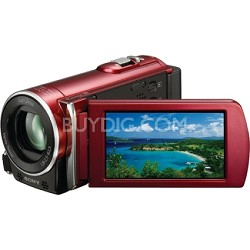 HDR-CX110 HD Handycam Camcorder (Red) - OPEN BOX