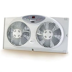 Bionaire Twin Reversible Airflow Window Fan with Remote Control - BW2300-N