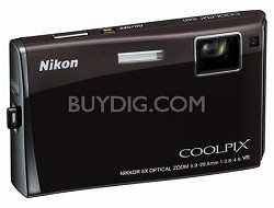 Coolpix S60 Digital Camera (Espresso Black)