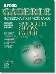Smooth Gloss 11 x 17 Photo Paper - 25 Pack