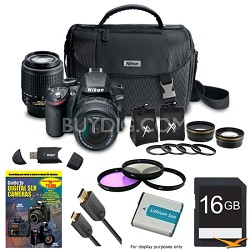 Nikon D3200 24.2MP DSLR 4-Lens Camera Bundle