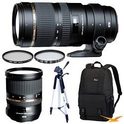 SP 70-200mm DI USD Telephoto Zoom & SP 24-70mm f2.8 Lens Kit For Sony