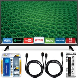"D43-D2 D-Series 43"" 120Hz Full-Array LED Smart TV Essential Accessory Bundle"