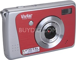 ViviCam X025 10.1 MP HD Digital Camera (Strawberry)