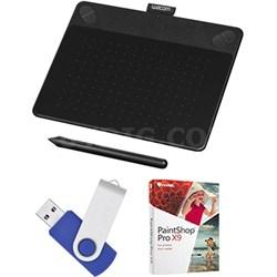 Intuos Photo Pen & Touch Tablet 16GB Creative Bundle w/Corel Paint - Small Black