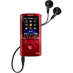 NWZ-E384 Video Walkman MP3 Player 8GB - Red