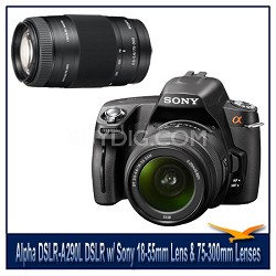 Alpha DSLR-A290L 14.2 MP DSLR Kit w/ Sony 18-55mm Lens & 75-300mm f/4.5-5.6 Lens