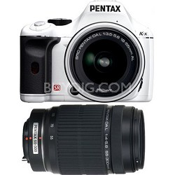 K-x Digital SLR Lens Kit w/ DA L 18-55mm and 55-300mm Lens (White)