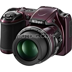 COOLPIX L820 16 MP 30x Zoom Digital Camera - PLUM Factory Refurbished