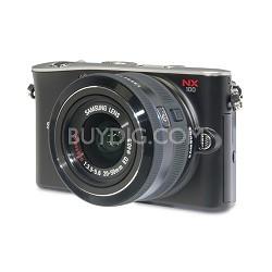 NX100 Mirrorless Digital Camera W/20-50mm Lens (Black) - OPEN BOX