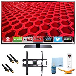 "50"" LED Smart HDTV 1080p Full HD 120Hz Plus Mount & Hook-Up Bundle - E500i-B"