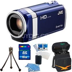 GZ-HM450US Full HD Memory Camcorder (Blue) - 16 GB Memory Bundle