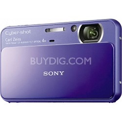 Cyber-shot DSC-T110 16.1MP Purple Touchscreen Digital Camera