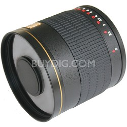 800mm F8.0 Mirror Lens  (Black Body) - 800M-B